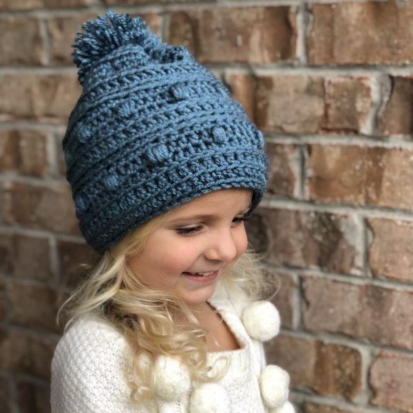 Snow Drifts Hat crochet pattern by Little Monkeys Designs - hat for girls