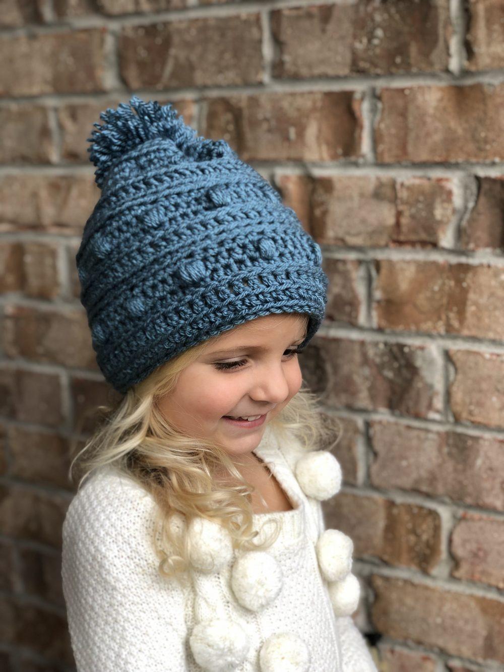 Snow Drifts Hat crochet pattern by Little Monkeys Designs – hat for girls