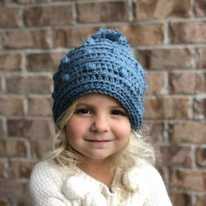 Snow Drifts Hat crochet pattern by Little Monkeys Designs - little girls hat