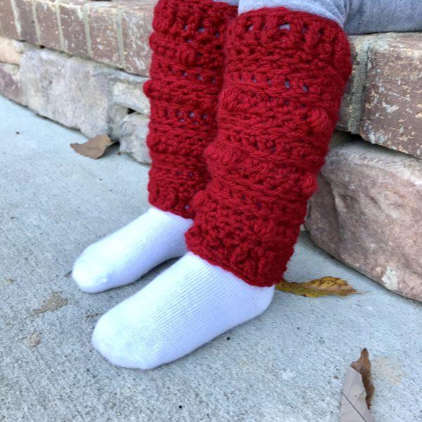 Snow Drifts Leg Warmers crochet pattern by Little Monkeys Designs - boot socks crochet pattern