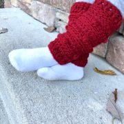 Snow Drifts Leg Warmers crochet pattern by Little Monkeys Designs - toddler leg warmers pattern