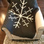 Snowflake Afghan crochet pattern by Little Monkeys Designs