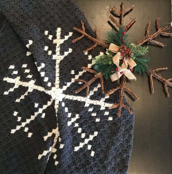 Snowflake Afghan crochet pattern by Little Monkeys Designs - corner to corner blanket pattern