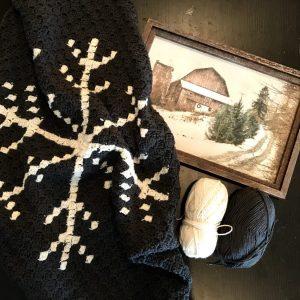 Snowflake Afghan crochet pattern by Little Monkeys Designs - corner to corner blanket - snowflake pattern