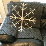 Snowflake Afghan crochet pattern by Little Monkeys Designs - snowflake throw pattern