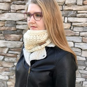 Stay Warm Cowl crochet pattern by Little Monkeys Designs - crochet pattern cowl