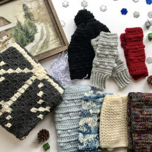 Wrapped up in Warmth Collection of crochet patterns by Little Monkeys Designs - winter crochet patterns