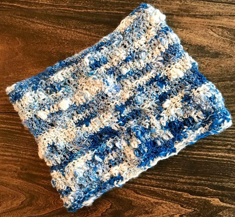 Art yarn kit - Art Yarn cowl crochet pattern and art yarn kit