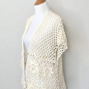 Laurie's Cardigan Crochet Pattern by Little Monkeys Designs, crochet cardigan pattern