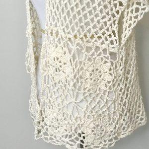 Laurie's Cardigan Crochet Pattern by Little Monkeys Designs, crochet cardigan pattern in cotton