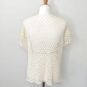 Laurie's Cardigan Crochet Pattern by Little Monkeys Designs, lacy crochet cardigan pattern