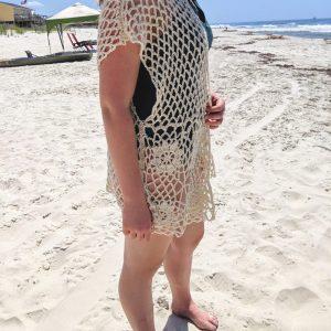 Laurie's Cardigan crochet pattern - flower vest 0 beach cover up crochet pattern - Little Monkeys Designs