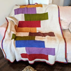 Stacked Quilts crochet pattern by Little Monkeys Designs - afghan blanket crochet pattern