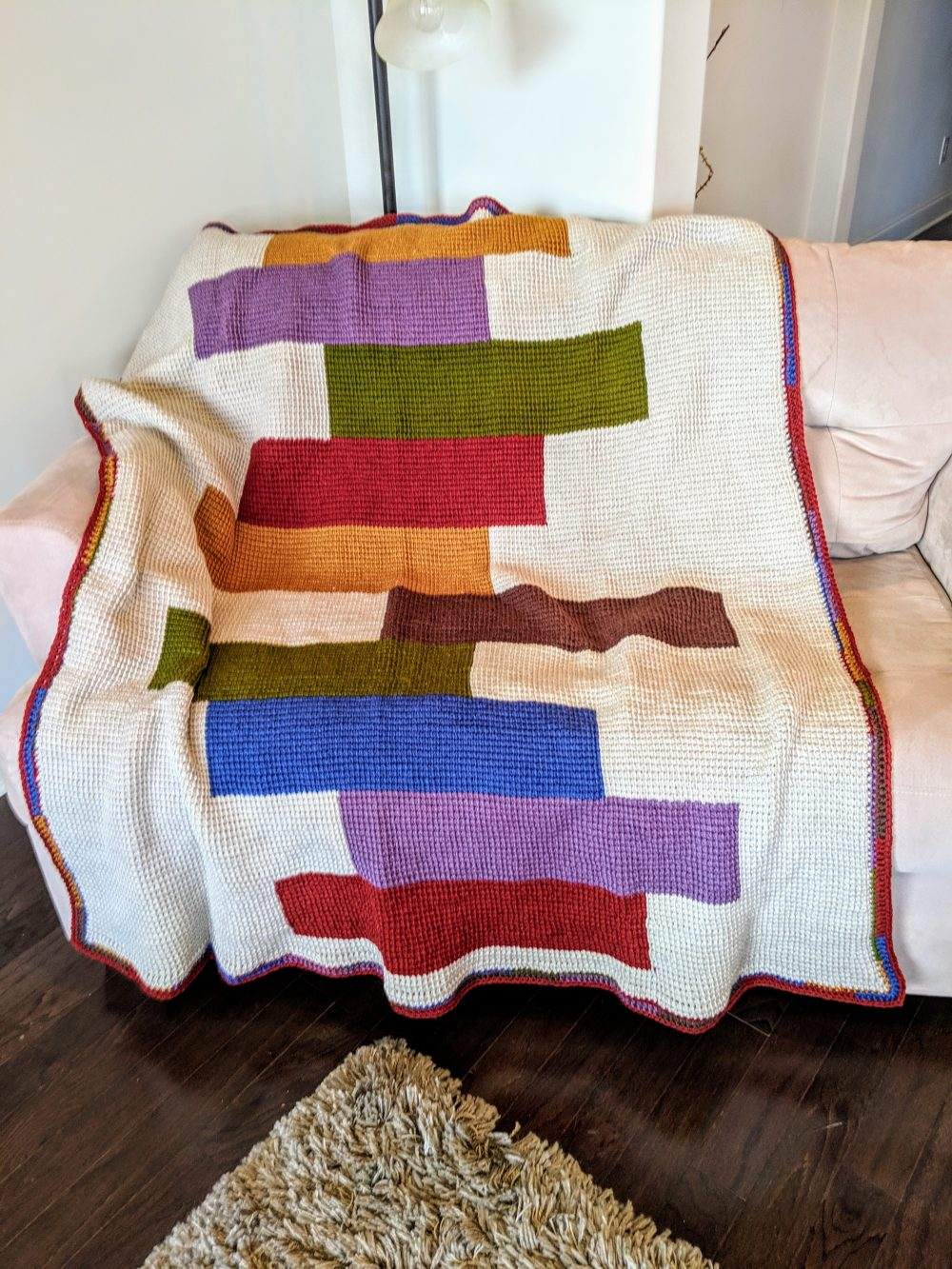 Stacked Blocks Quilt Afghan Crochet Pattern By Little Monkeys Designs