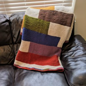 Stacked Quilts crochet pattern by Little Monkeys Designs - blanket crochet pattern