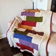 Stacked Quilts crochet pattern by Little Monkeys Designs - crochet pattern for a large blanket