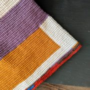 Stacked Quilts crochet pattern by Little Monkeys Designs - edging on blanket
