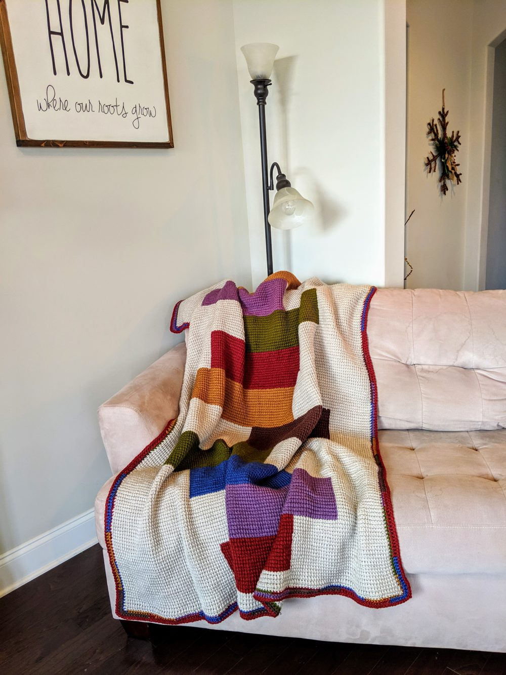 Stacked Blocks Quilt Afghan Crochet Pattern By Little