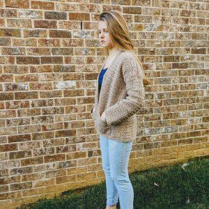 Everyday Casual Cardigan crochet pattern by Little Monkeys Designs - warm spring cardigan