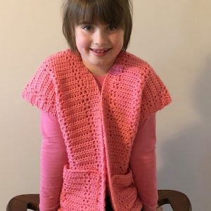 Everyday Casual Cardigan crochet pattern by Little Monkeys Designs - easy cardigan crochet pattern for girls