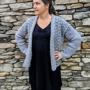 Lacy's spring Cardigan crochet pattern by Little Monkeys Designs - spring sweater pattern