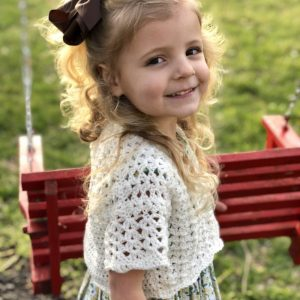 Lillys Cropped cardigan crochet pattern by Little Monkeys Designs