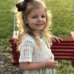 Lillys Cropped cardigan crochet pattern by Little Monkeys Designs - girls Easter sweater crochet pattern