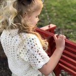 Lillys Cropped cardigan crochet pattern by Little Monkeys Designs - girls spring cardigan