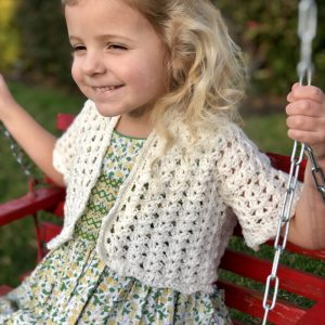 Lillys Cropped cardigan crochet pattern by Little Monkeys Designs - spring cardigan crochet pattern