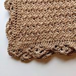 Precious Bundle Baby Blanket crochet pattern by Little Monkeys Designs - lacy edge on baby blanket