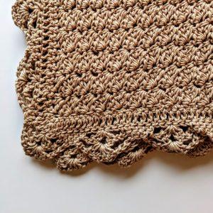 Precious Bundle Baby Blanket crochet pattern by Little Monkeys Designs - lacy edge on baby blanket