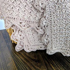 Precious Bundle Baby Blanket crochet pattern by Little Monkeys Designs - spring baby blanket crochet edge