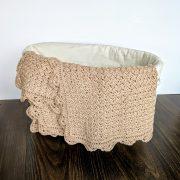 Precious Bundle Baby Blanket crochet pattern by Little Monkeys Designs - spring baby blanket pattern