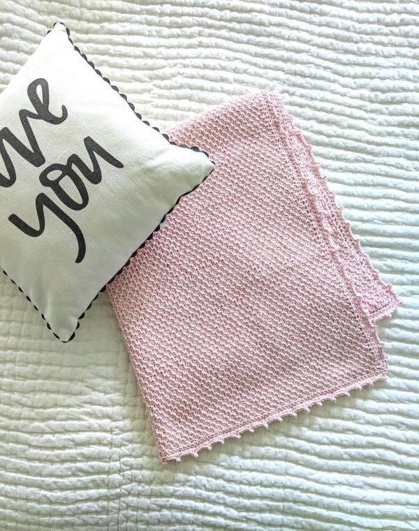 Addies Baby Blanket crochet pattern by Little Monkeys Designs - tunisian crochet baby blanket pattern - baby blanket crochet kit