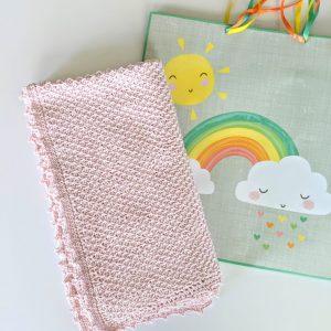 Addies Baby Blanket crochet pattern by Little Monkeys Designs - tunisian crochet baby blanket pattern - baby gift idea