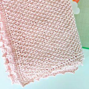 Addies Baby Blanket crochet pattern by Little Monkeys Designs - tunisian crochet baby blanket pattern - baby shower gift