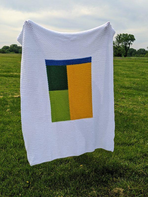 Kemily's Blanket crochet pattern by Little Monkeys Designs - large throw blanket pattern