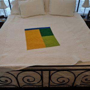 Kemily's Blanket crochet pattern by Little Monkeys Designs - quilt style throw crochet pattern