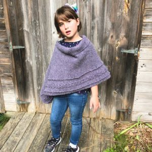 Braided Cable Wrap or Poncho crochet pattern by Little Monkeys Designs - girls poncho pattern