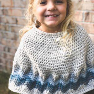 Chevron Poncho crochet pattern by Little Monkeys Designs - girls poncho pattern