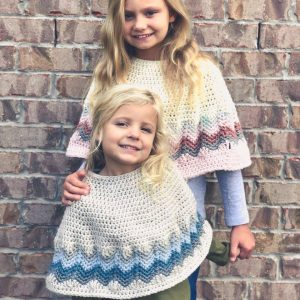 Chevron Poncho crochet pattern by Little Monkeys Designs - girls poncho pattern