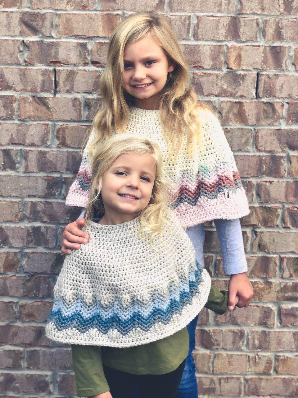 Chevron Poncho crochet pattern by Little Monkeys Designs