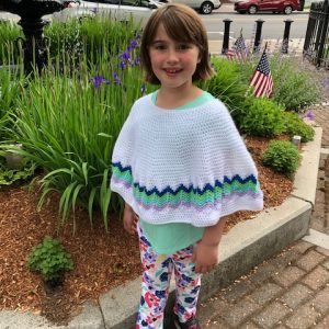 Chevron Poncho crochet pattern by Little Monkeys Design