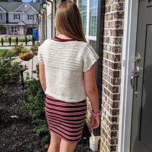 Ribbed Pullover Sweater crochet pattern by Little Monkeys Designs