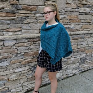 Braided Cable Wrap or Poncho crochet pattern by Little Monkeys Designs