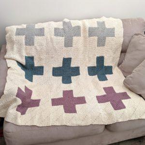 Modern Quilt Blanket crochet pattern by Little Monkeys Designs