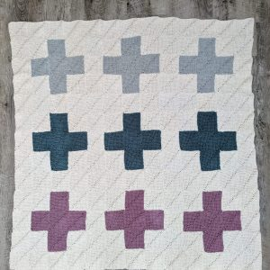 Modern Quilt Blanket crochet pattern by Little Monkeys Designs