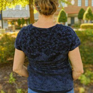 Zara's Sweater crochet pattern by Little Monkeys Designs - modern top down sweater