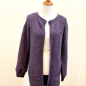Saturday Morning Cardigan crochet pattern by Little Monkeys Designs - cozy cardigan pattern