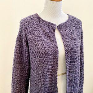Saturday Morning Cardigan crochet pattern by Little Monkeys Designs - minimal sewing involved